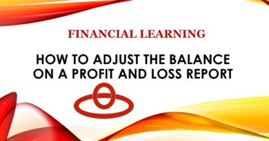 FINANCIAL LEARNING: How to Adjust the Balance on a Profit and Loss Report