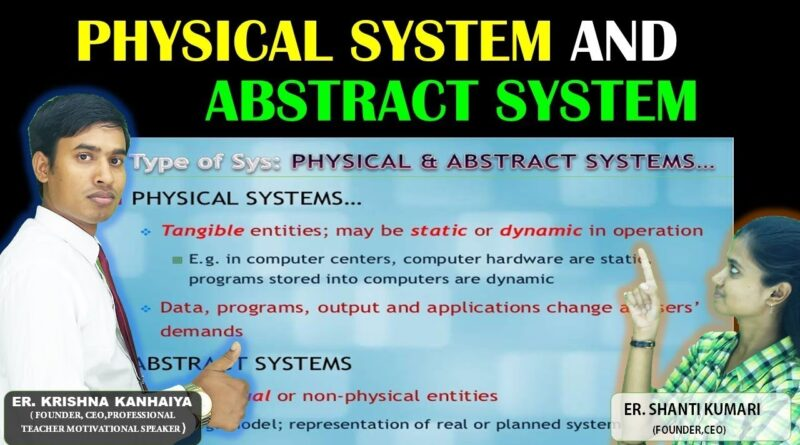 System Analysis and Design Business Analysis with Statistical analysis-Difference between Physical System and Abstract System