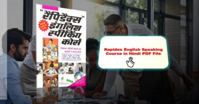 Rapidex English Speaking Course in Hindi PDF File Download